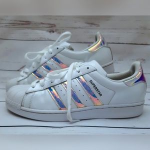 Adidas 9.5 Superstar White Iridescent Metallic